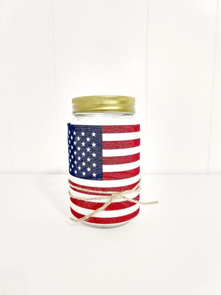 American Flag Mason Jar Lantern heidi sonboul