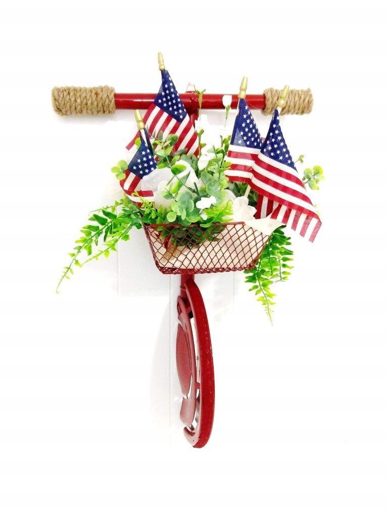 4th of July bike wreath heidi sonboul