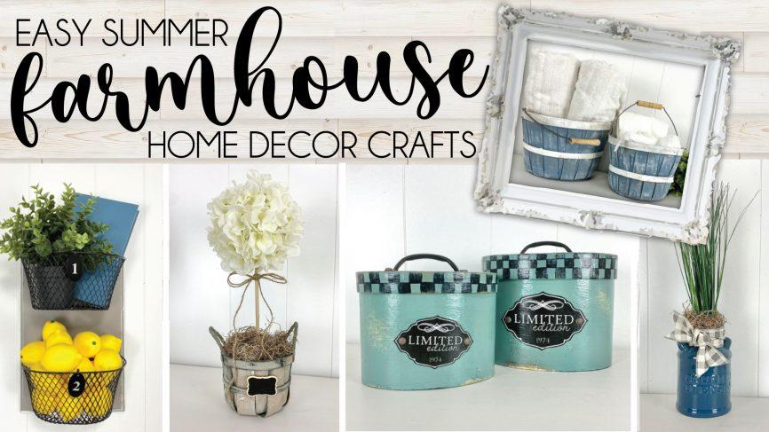 EASY Summer Farmhouse Home Decor Crafts