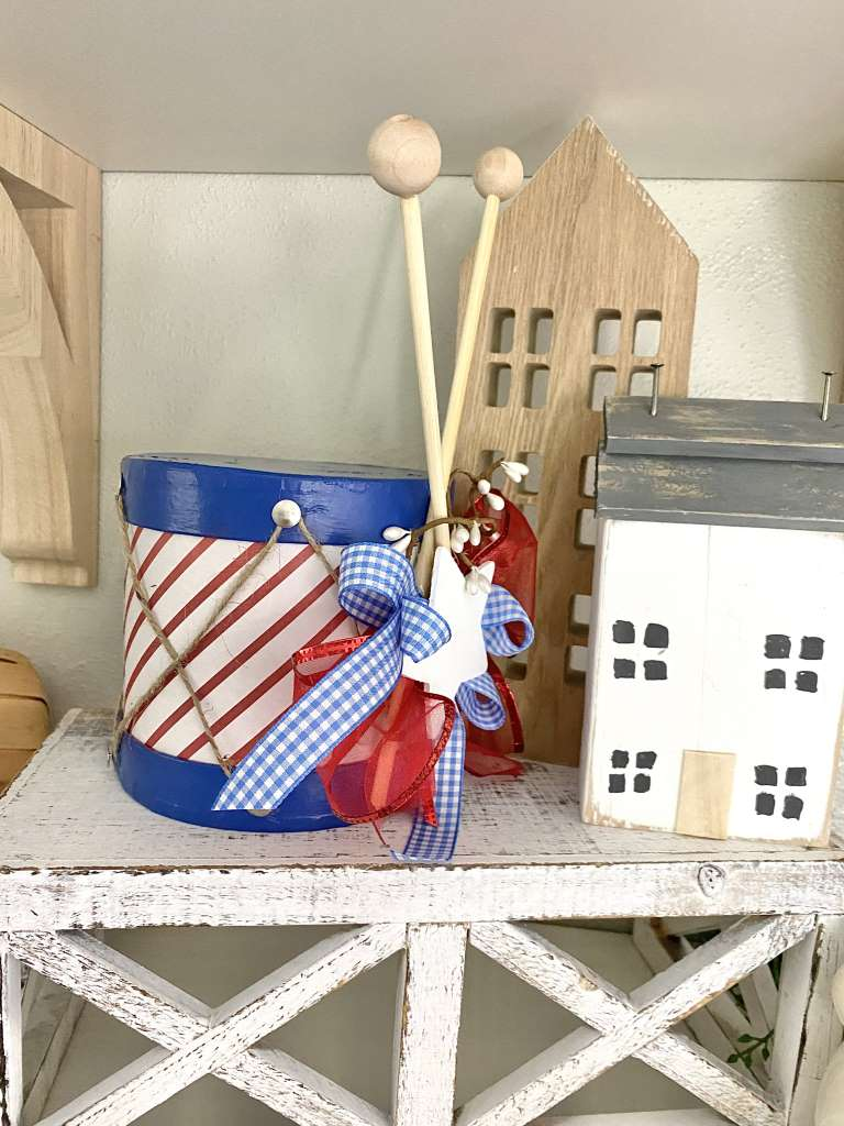 4th Of July gift box drum and drumsticks DIY Craft