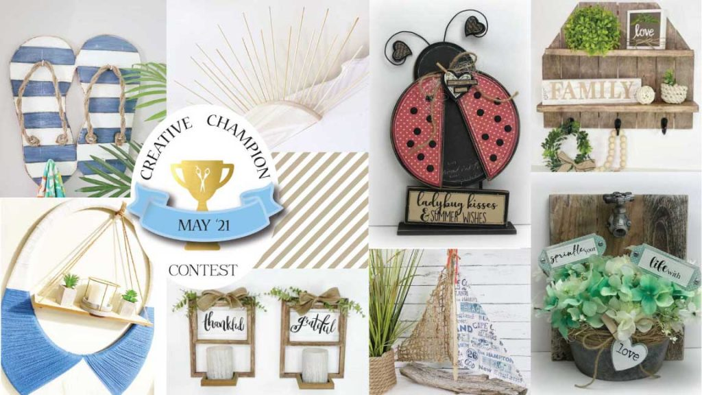 creative champion contest season 2 round 3 DIY projects