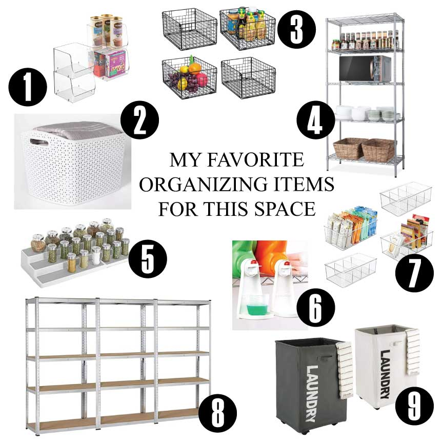 my 9 favorite laundry and storage room organizing items