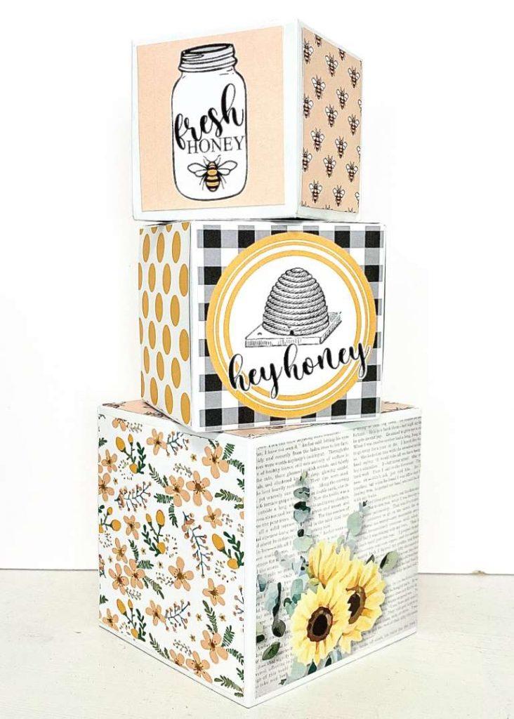 DIY honeybee gift box stacking boxes