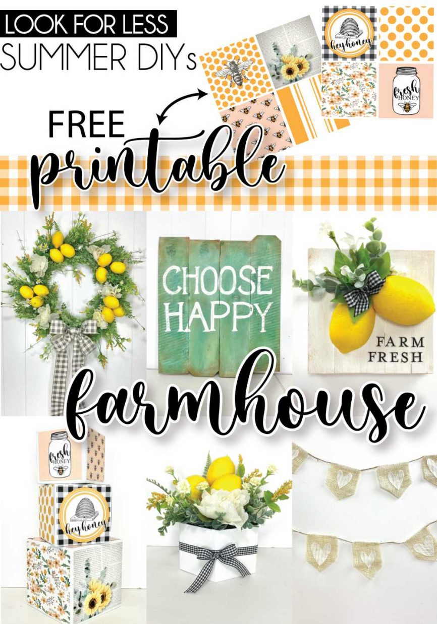 Look For Less EASY Summer Home Decor Crafts