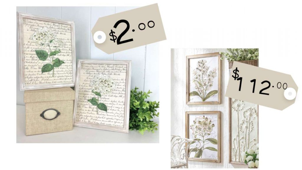 Heidi Sonboul DIY Comparison Hydrangea Artwork Picture Frames