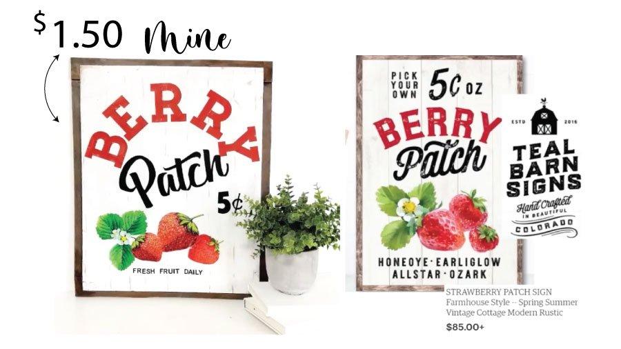Heidi Sonboul DIY Comparison Berry Patch Sign