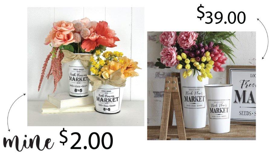 Heidi Sonboul DIY Comparison Fresh Flowers Buckets