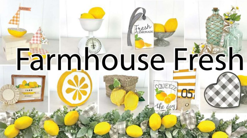 EASY Summer Home Decor Crafts With Lemons
