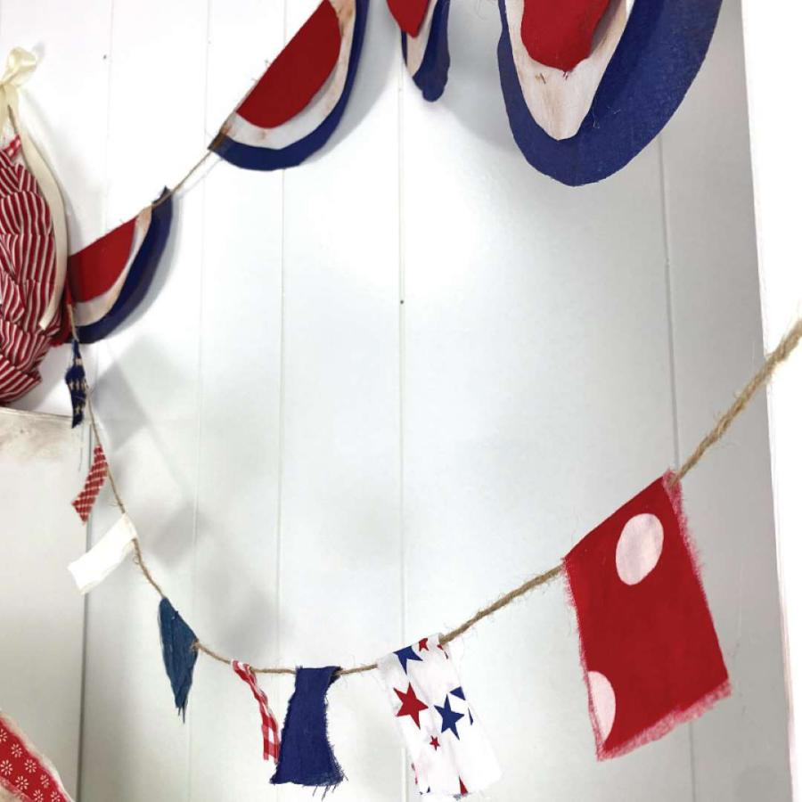 DIY red white and blue banners