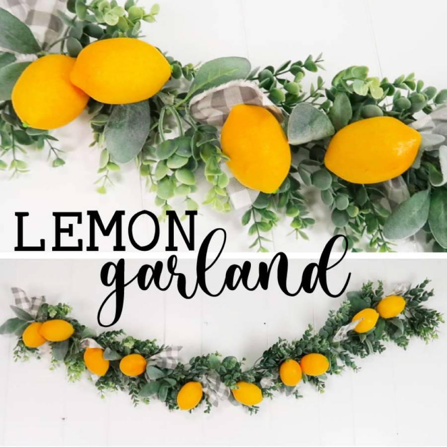 DIY lemon garland