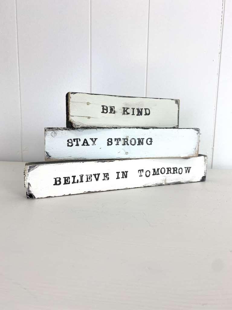 DIY wooden quote blocks