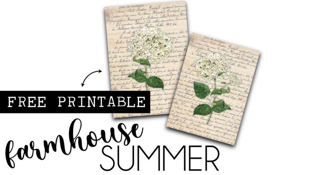 farmhouse summer free flower frame printable by heidi sonboul