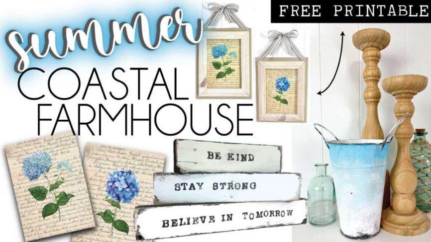 Summer Coastal Farmhouse Home Decor Crafts