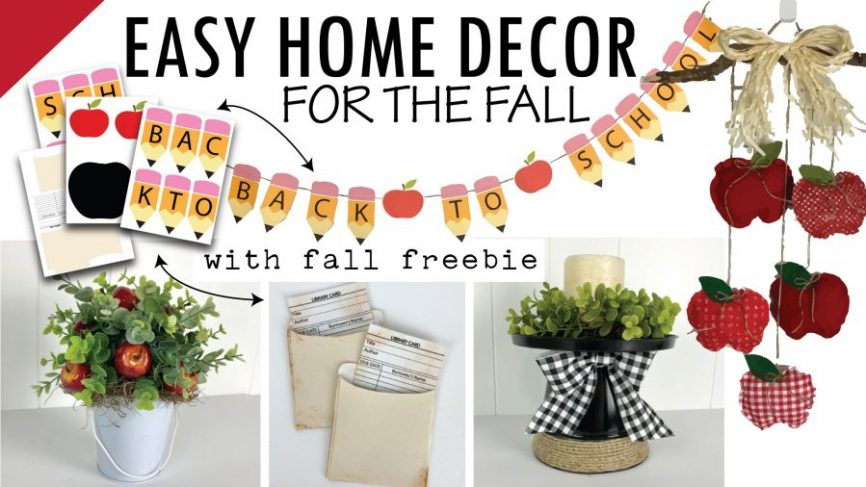 Back To School Banner and Apple Decor For the Fall