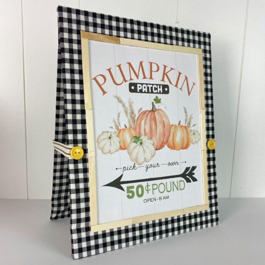 pumpkin patch market sign