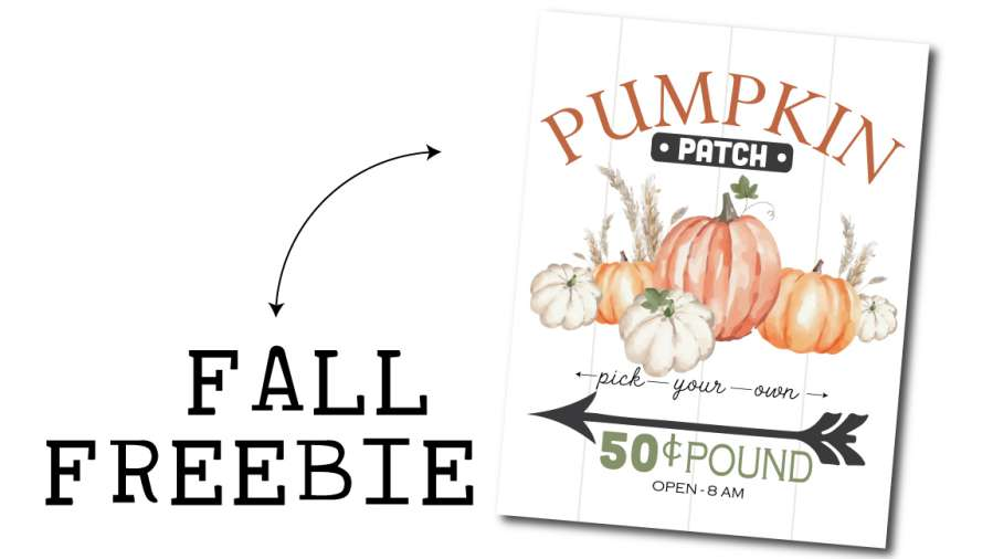 pumpkin patch sign freebie callout